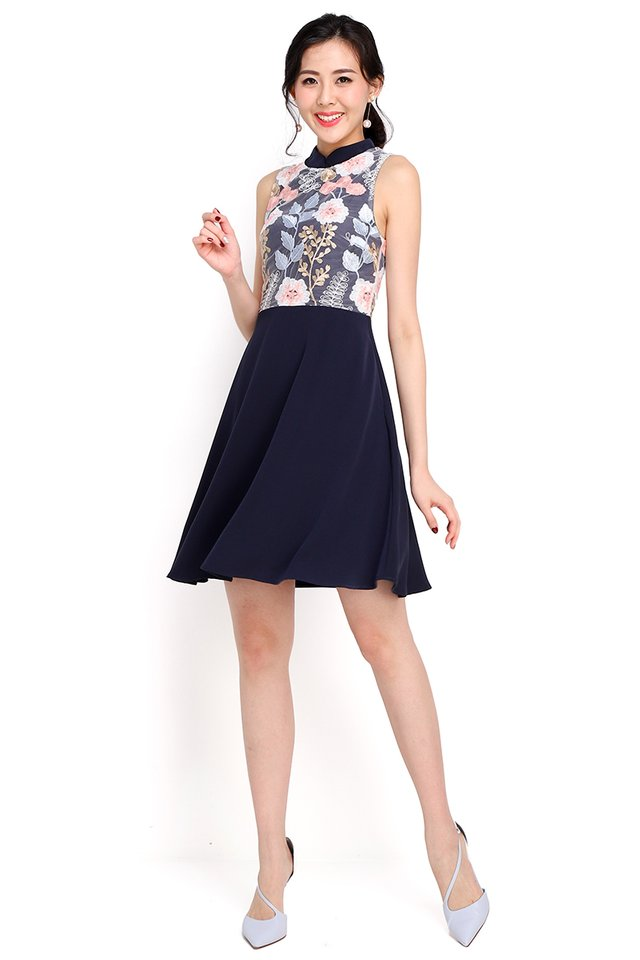 Amazing Grace Dress In Navy Blue