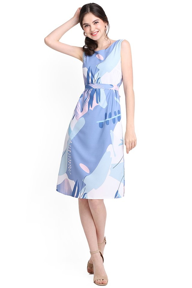 Youth Narration Dress In Blue Prints