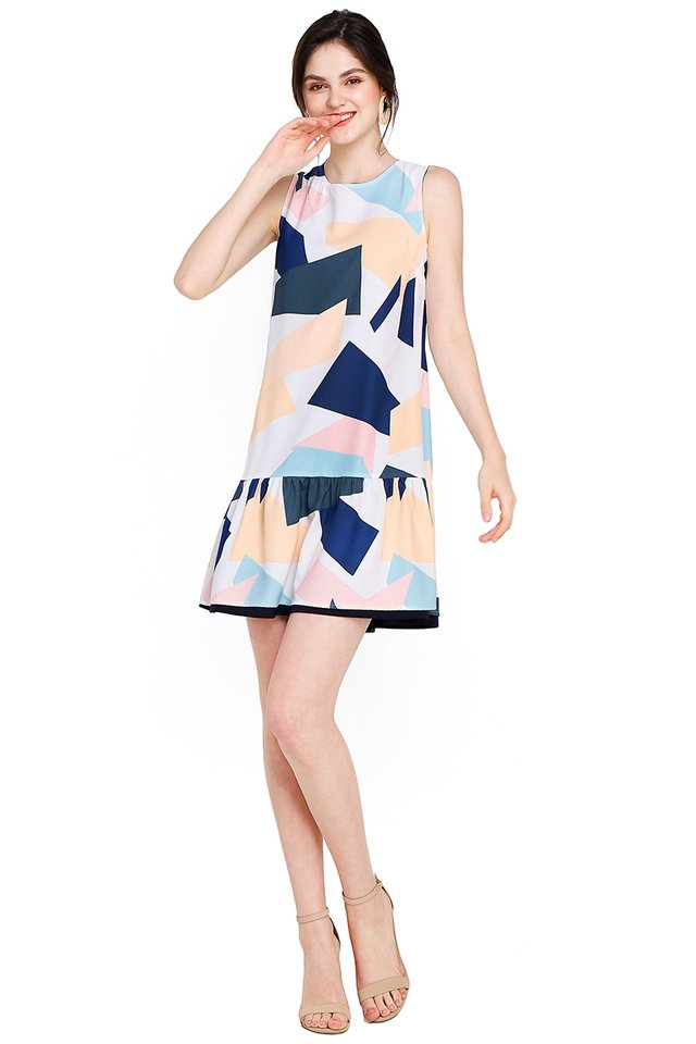 Geometric Equation Dress In Abstract Prints