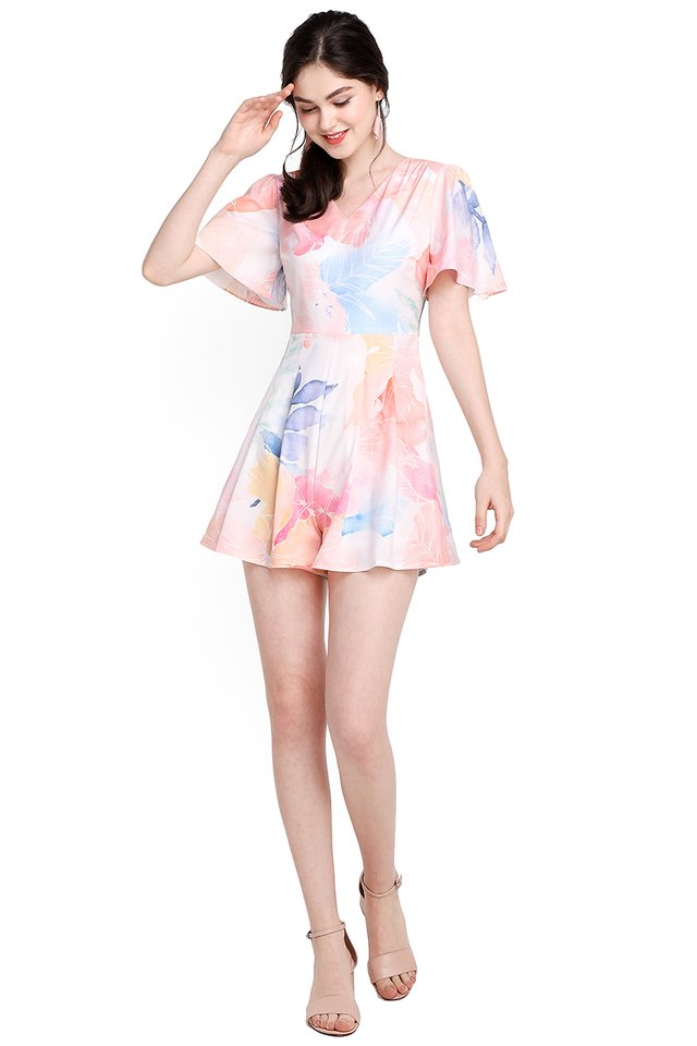 [BO] Sunrise Magic Romper In Abstract Prints