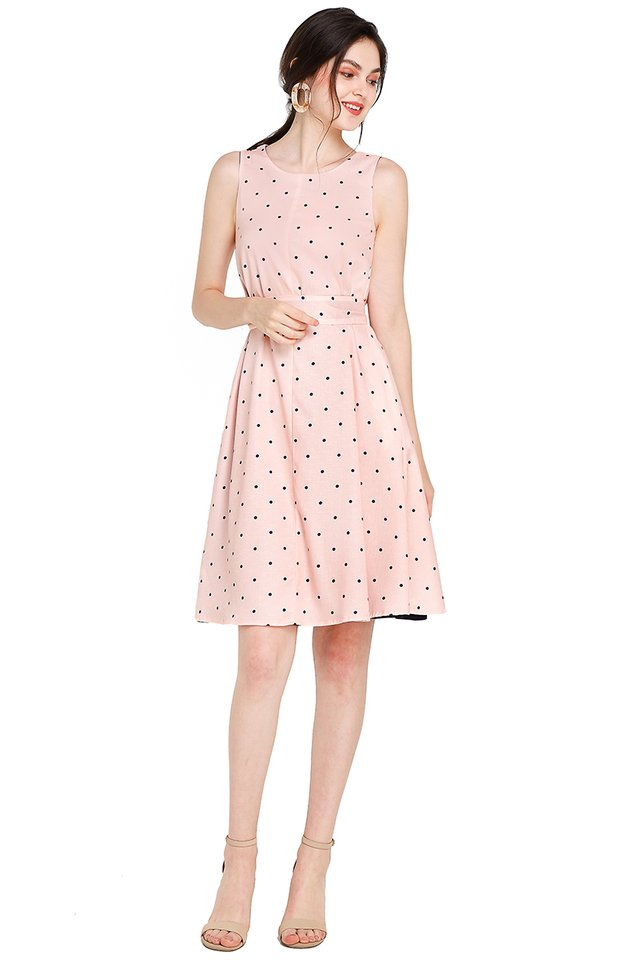 Miss Optimist Dress In Pink Dots