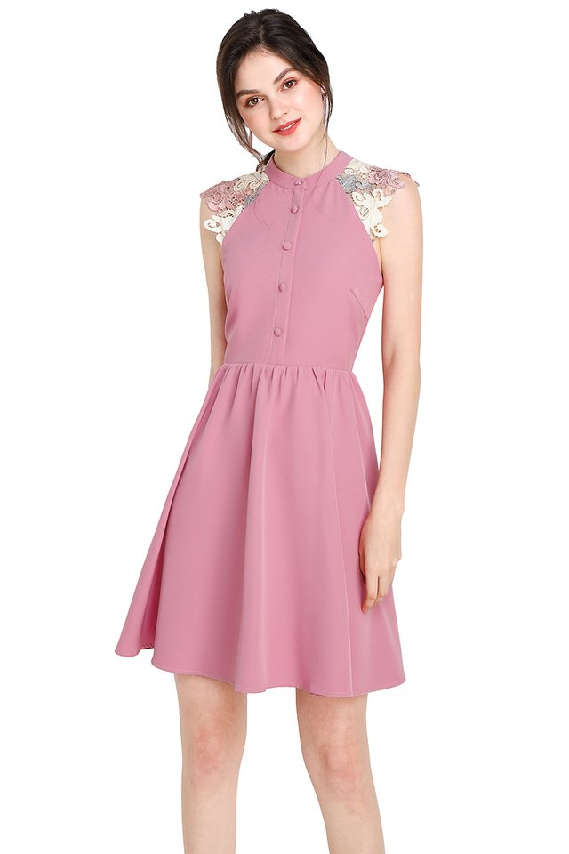 Wisteria Garden Dress In Rose Pink