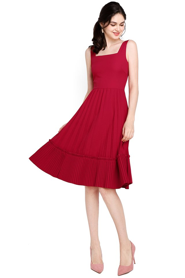 Love Confession Dress In Festive Red