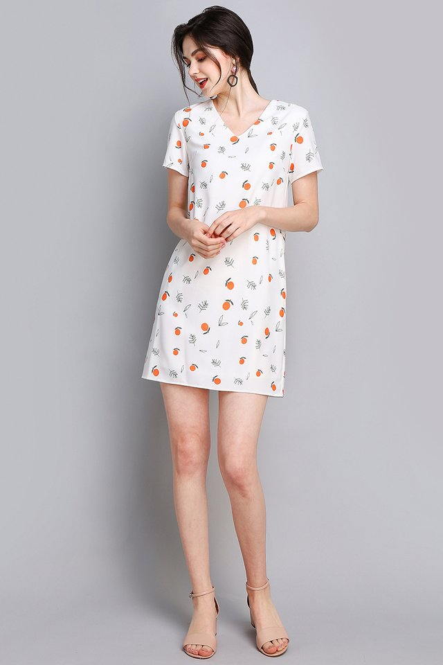Meant For Each Other Dress In White Prints
