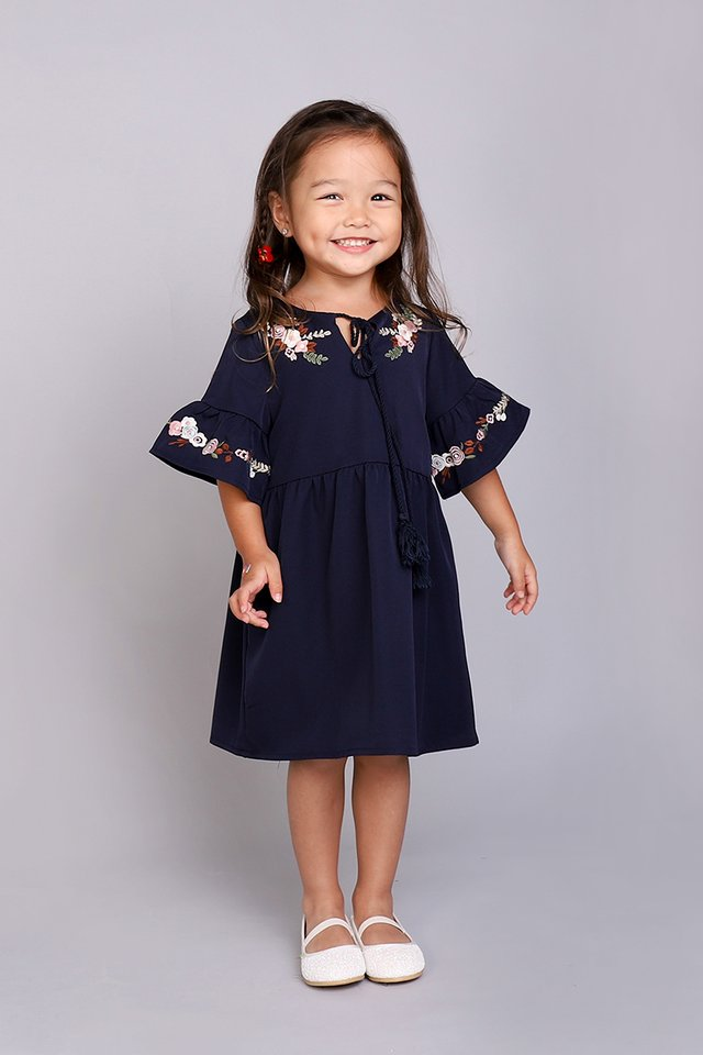 Sugar Coated Dress In Navy Blue