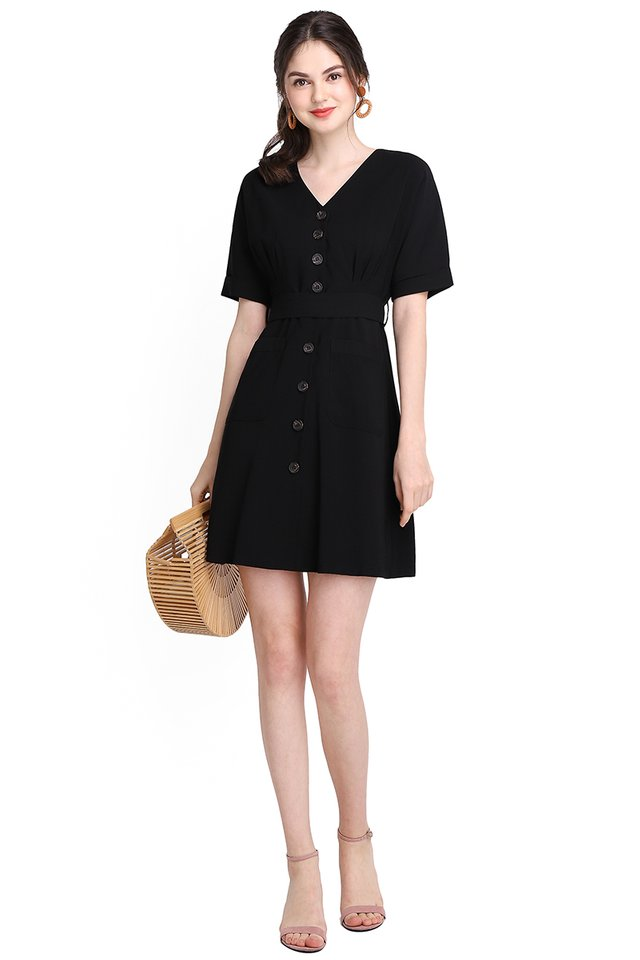 Stating The Basics Dress In Classic Black