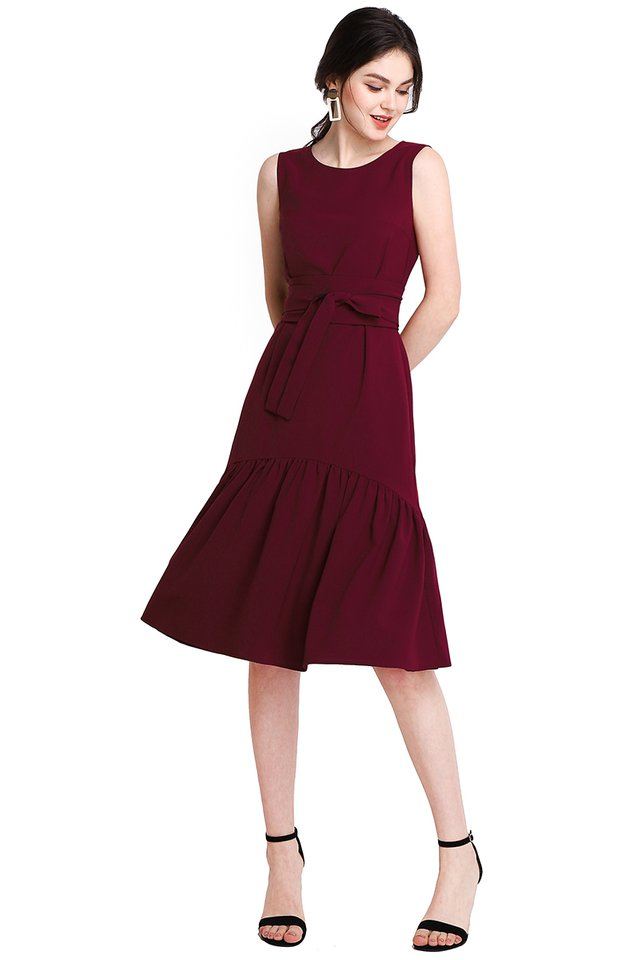 Better Than Ever Dress In Black Wine