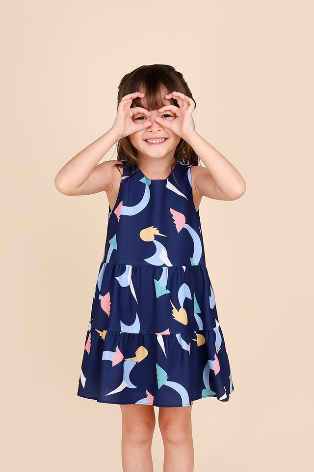 Fresh Adventures Ahead Dress In Blue Prints