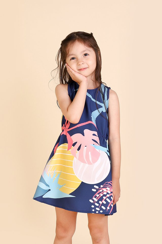 Sunshine All Around Dress In Blue Prints