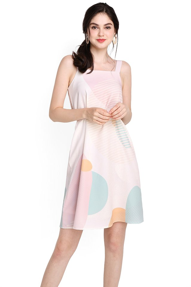 Pastel Notions Dress In Pink Prints