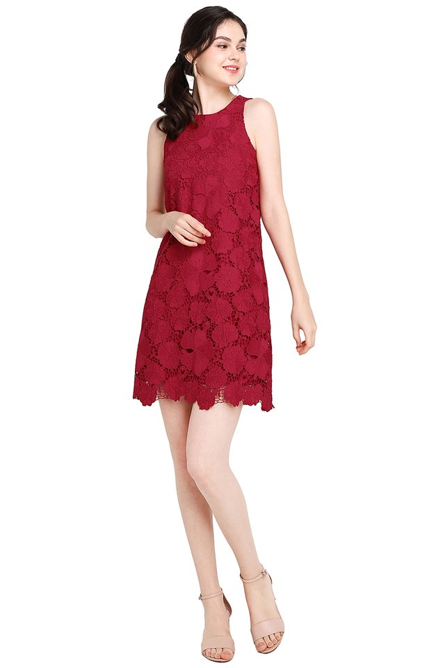 Shades Of Joy Dress In Festive Red