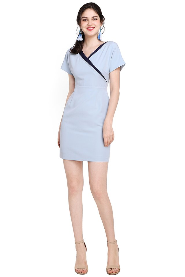 Harujuku Girl Dress In Sky Blue