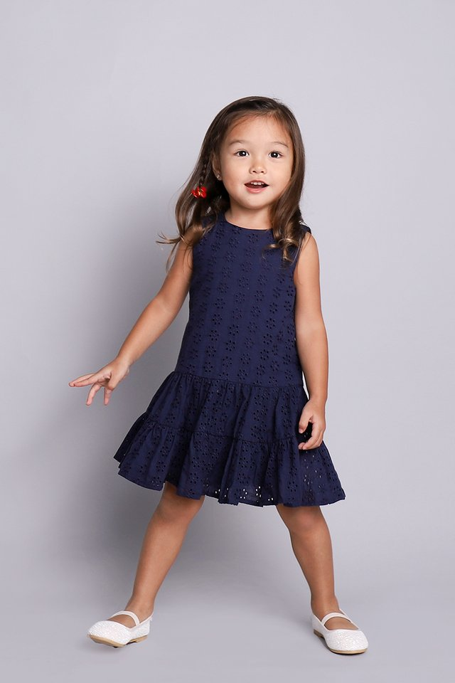 Sweet Dreams Dress In Navy Blue