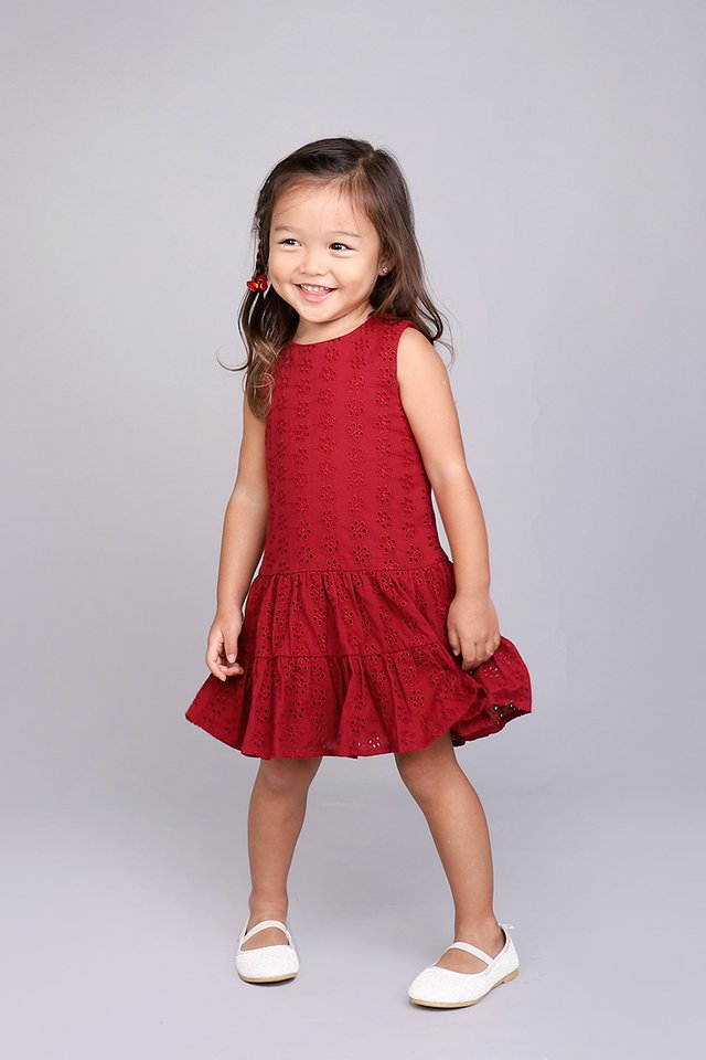 Sweet Dreams Dress In Wine Red