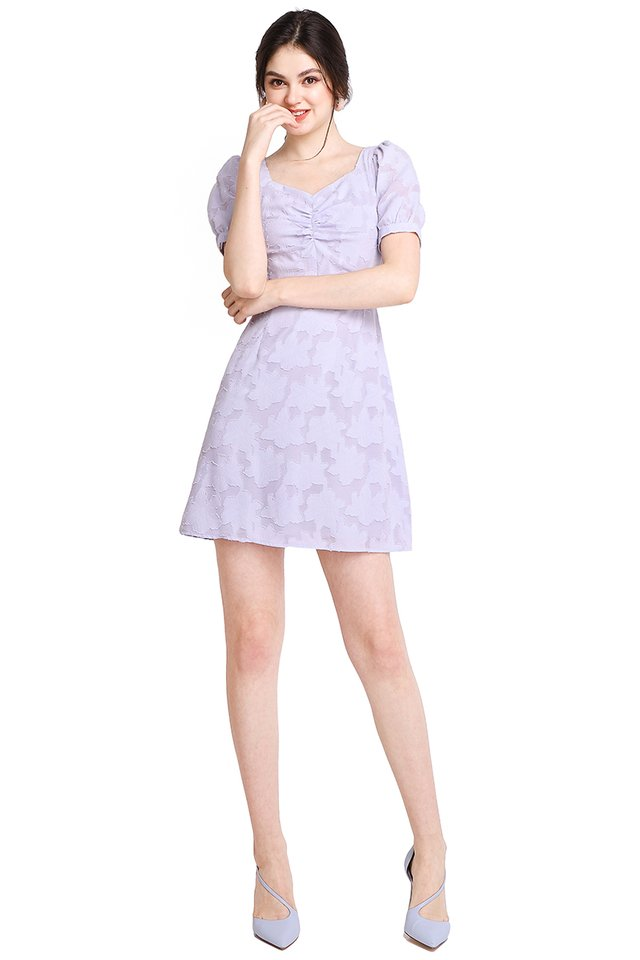 Quite The Charmer Dress In Periwinkle