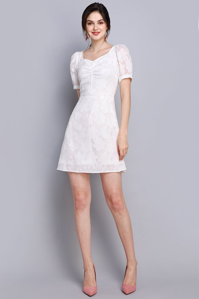 Quite The Charmer Dress In Classic White