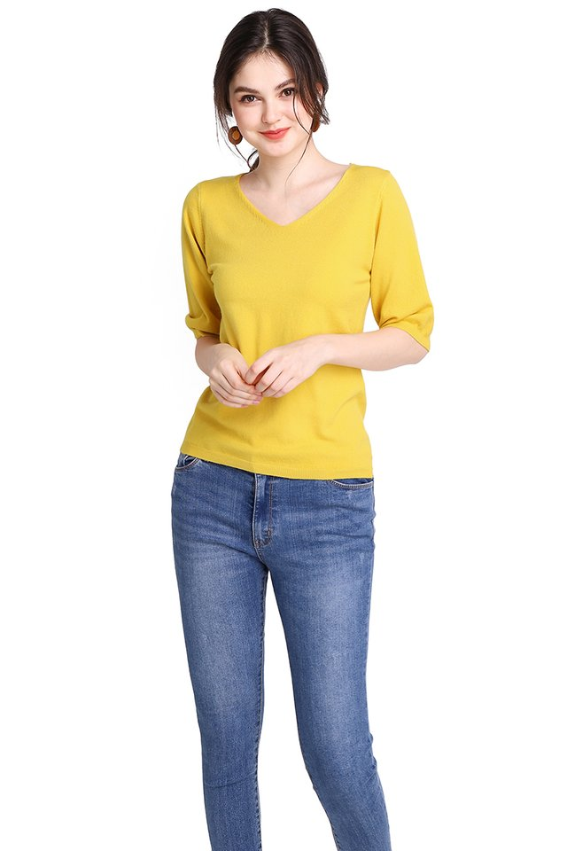 Amber Top In Mustard Yellow