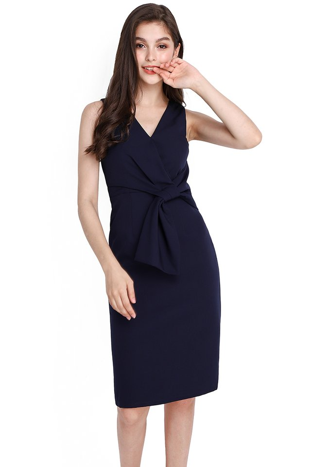 Endless Charm Dress In Navy Blue
