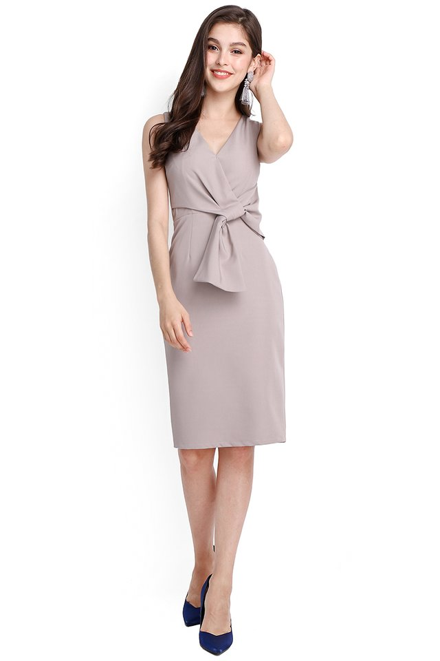 Endless Charm Dress In Dove Grey