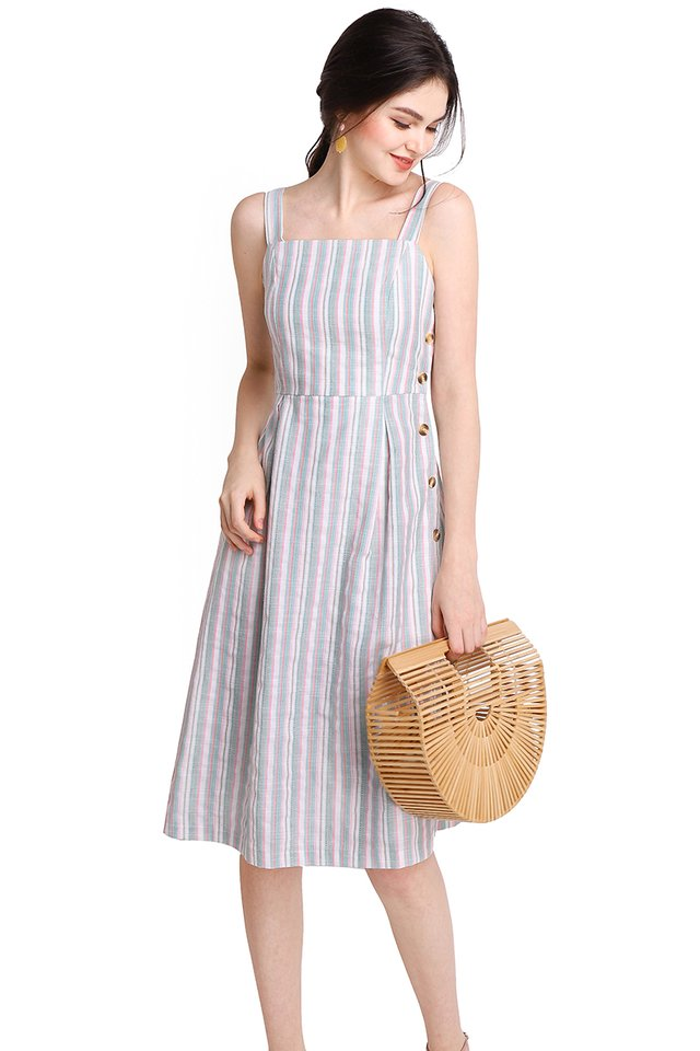 Daytime Darling Dress In Candy Stripes
