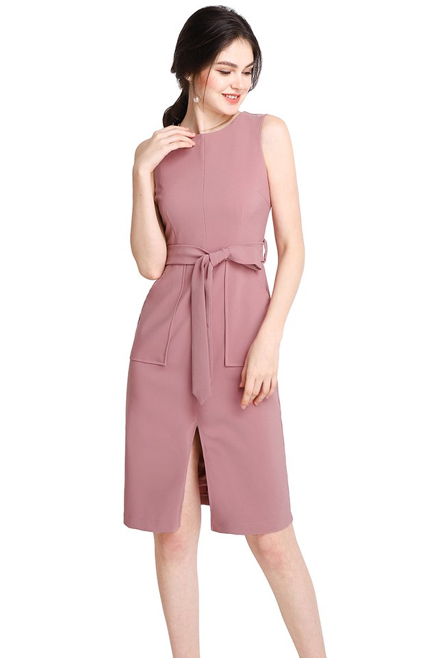 The Romanticist Dress In Dusty Pink