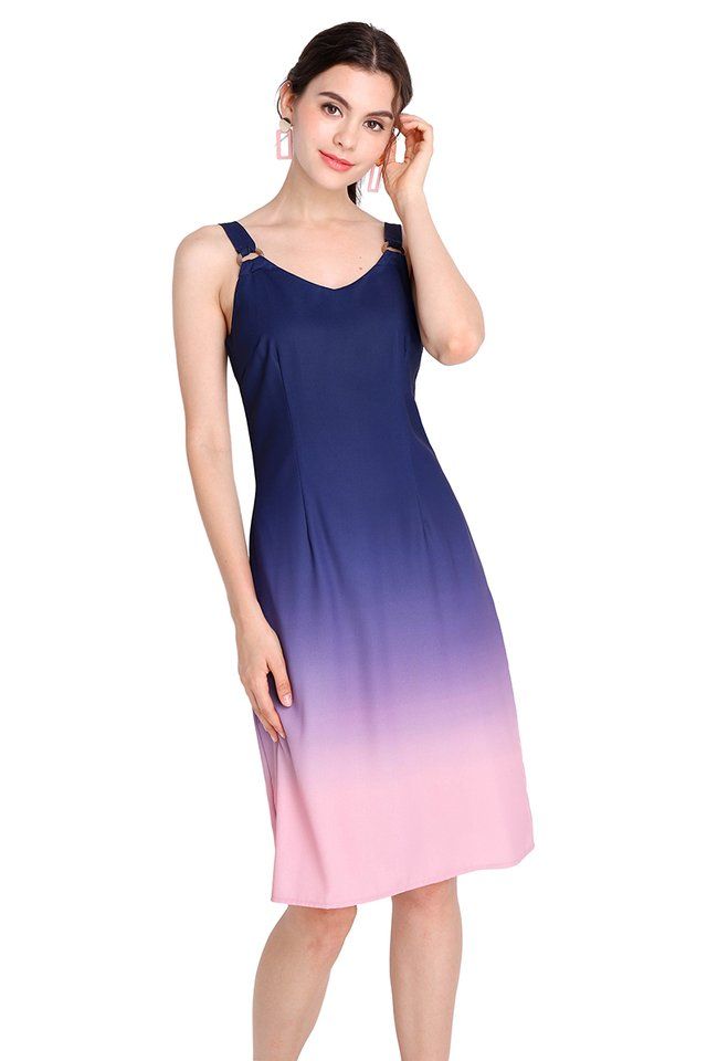 Rainbow Connection Dress In Blue Pink