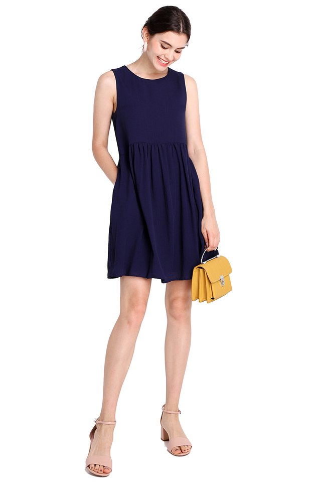 Sunny Forecast Dress In Navy Blue