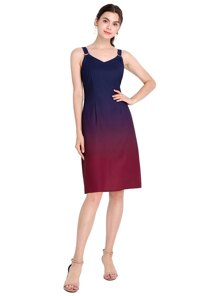 Rainbow Connection Dress In Blue Wine