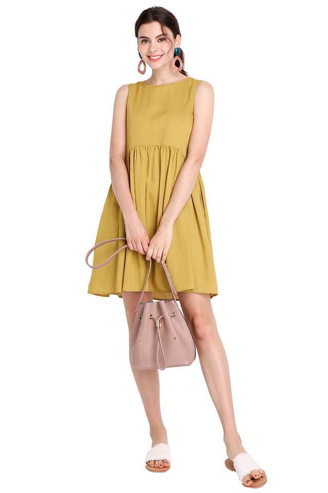 Sunny Forecast Dress In Mustard Yellow