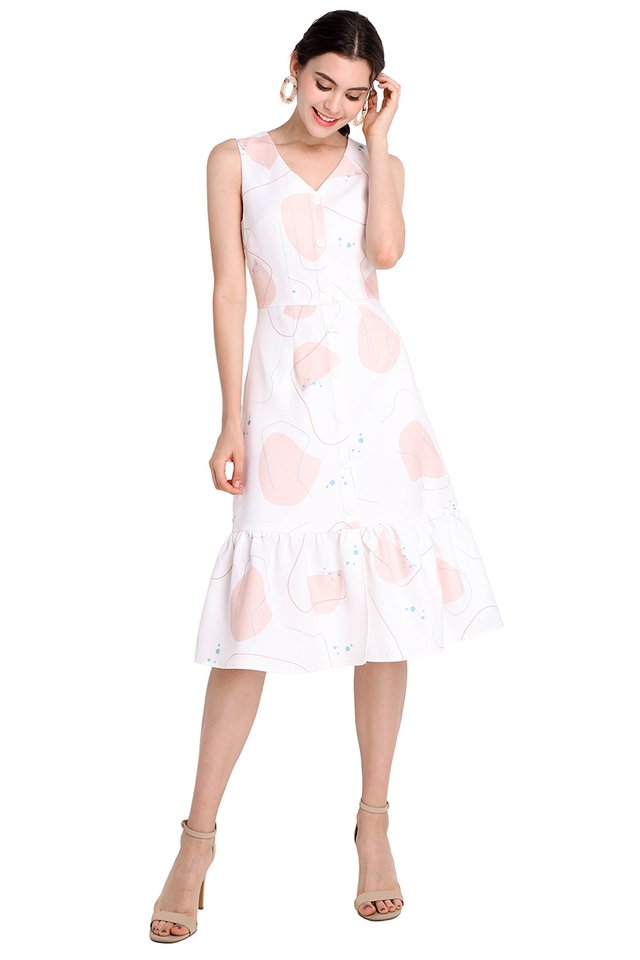 Fresh Opportunities Dress In White Prints