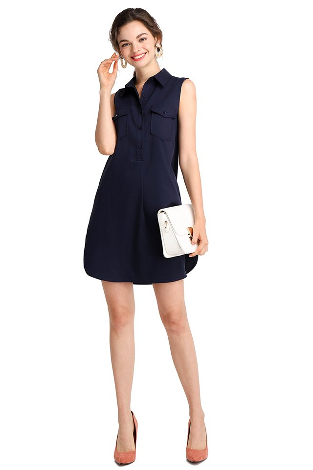 Fun For All Dress In Navy Blue
