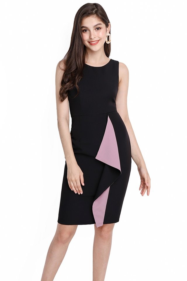 Shades Of Brilliance Dress In Black Lilac