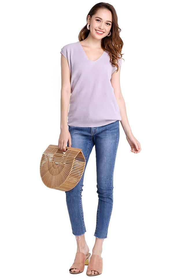 Alexa Top In Soft Lilac