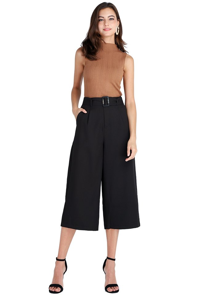 The Road Ahead Culottes In Classic Black