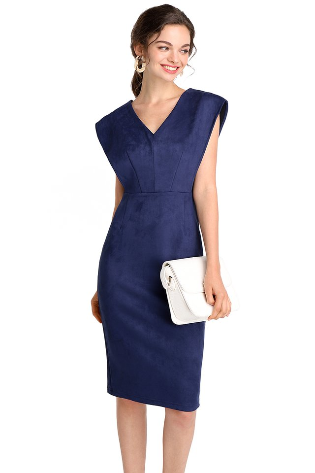 Future Visionaire Dress In Navy Blue