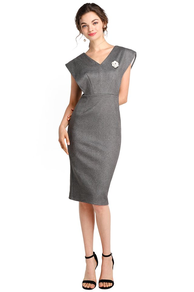 Future Visionaire Dress In Heather Grey