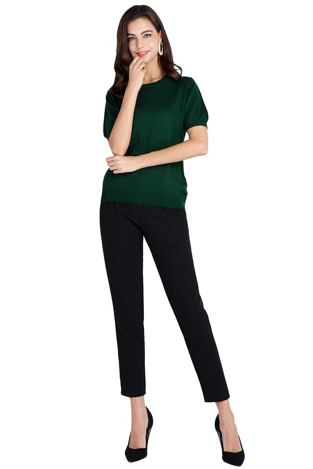 Faith Top In Forest Green