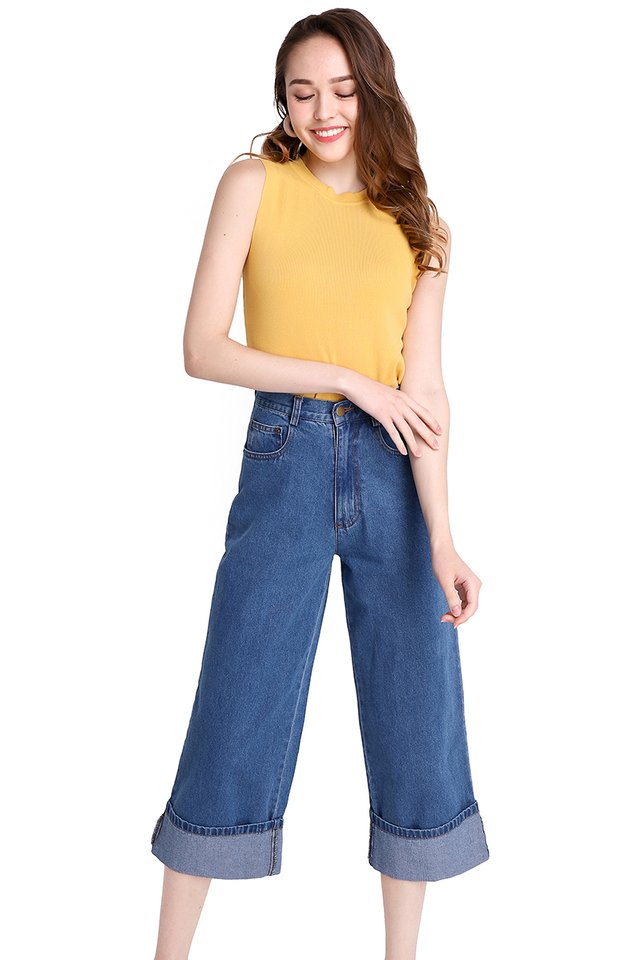 Luna Top In Mustard Yellow