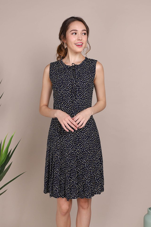 Sprinkles Of Joy Dress In Blue Prints