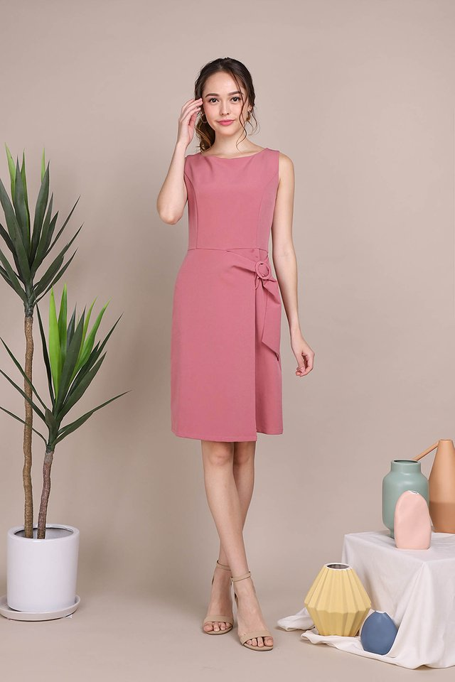 Rosy Romance Dress In Rose Pink