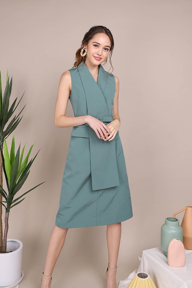 Precious Thoughts Dress In Jade