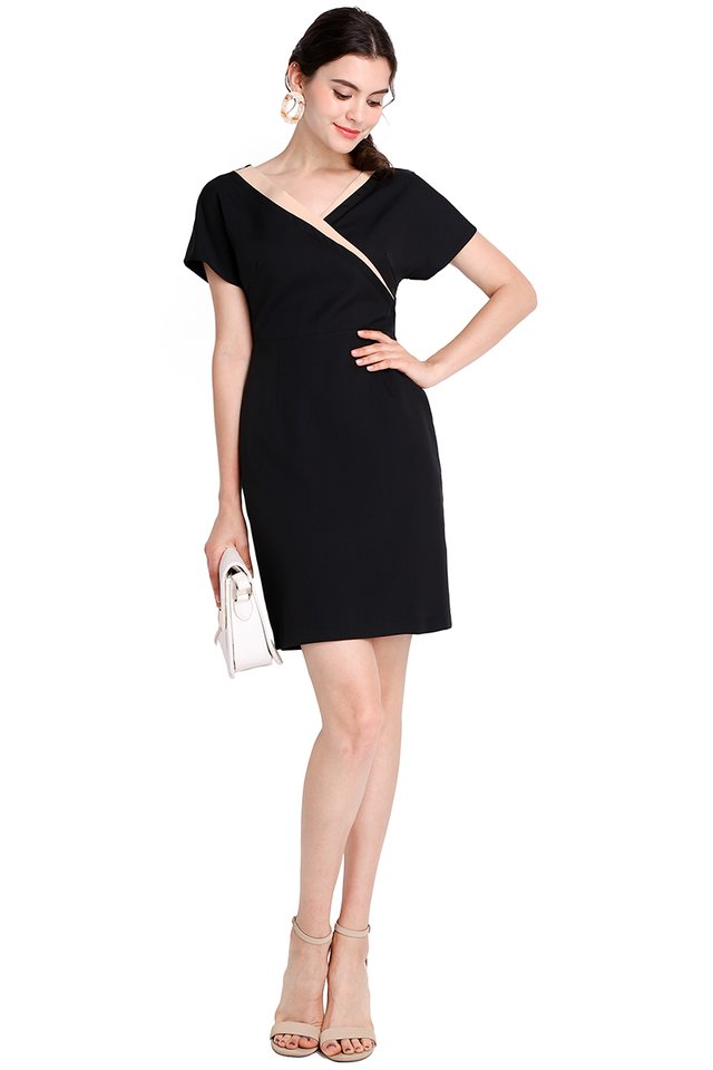 Harujuku Girl Dress In Classic Black