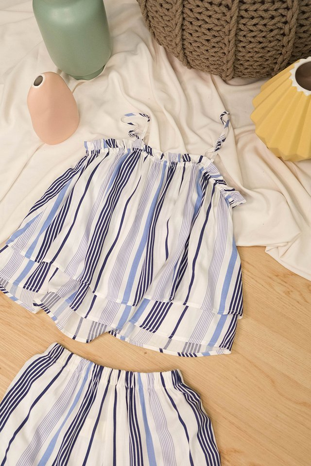 Brunch Ready Set In Blue Stripes