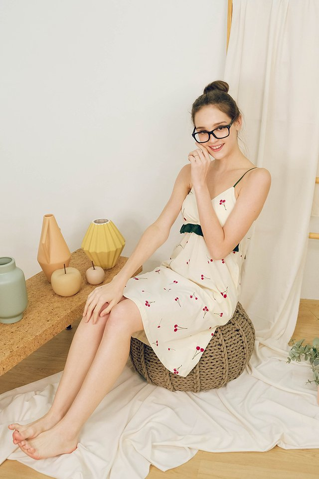 Cherry Picks Dress In Cream Prints