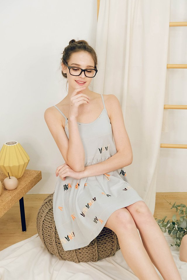 Afternoon Coffee Dress In Mint Prints