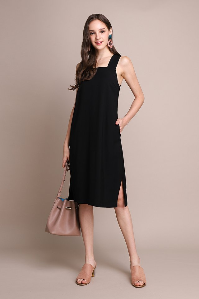 Positivity Always Wins Dress In Classic Black