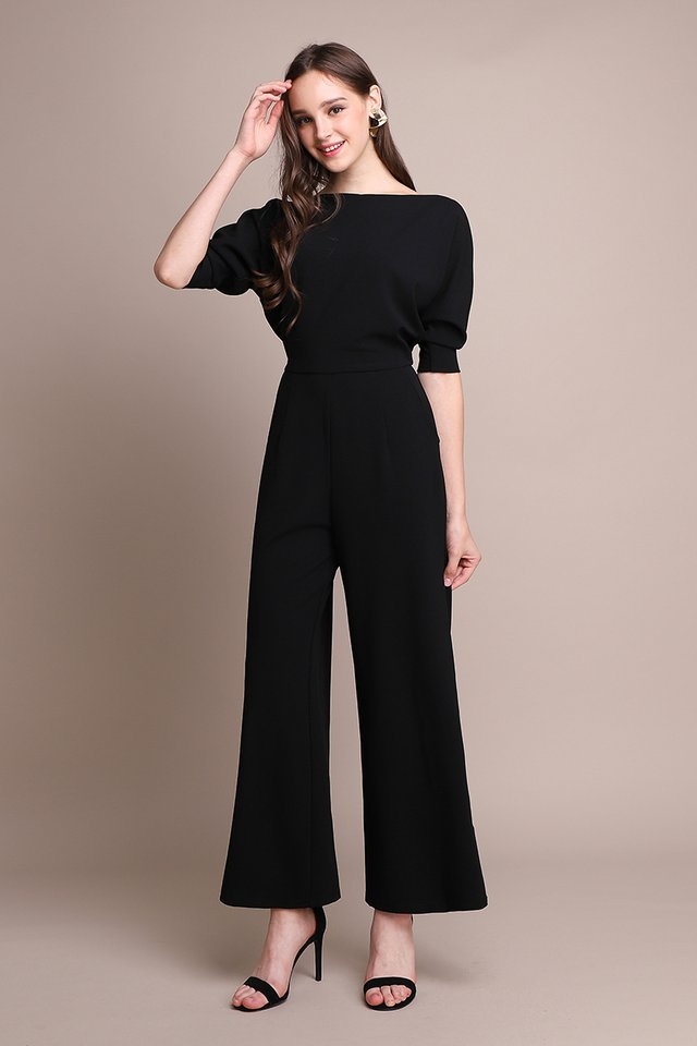 Pretty On Point Romper In Classic Black