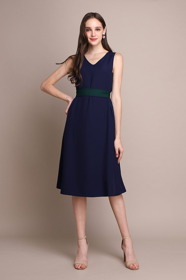 Blissfully Yours Dress In Forest Blue
