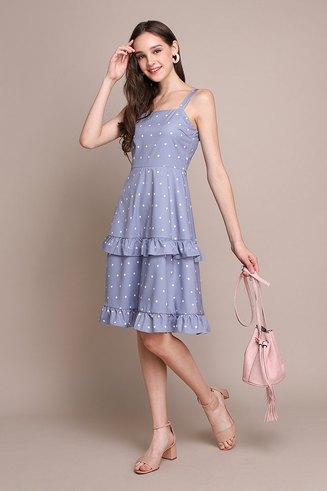 Simply Starstruck Dress In Periwinkle Dots