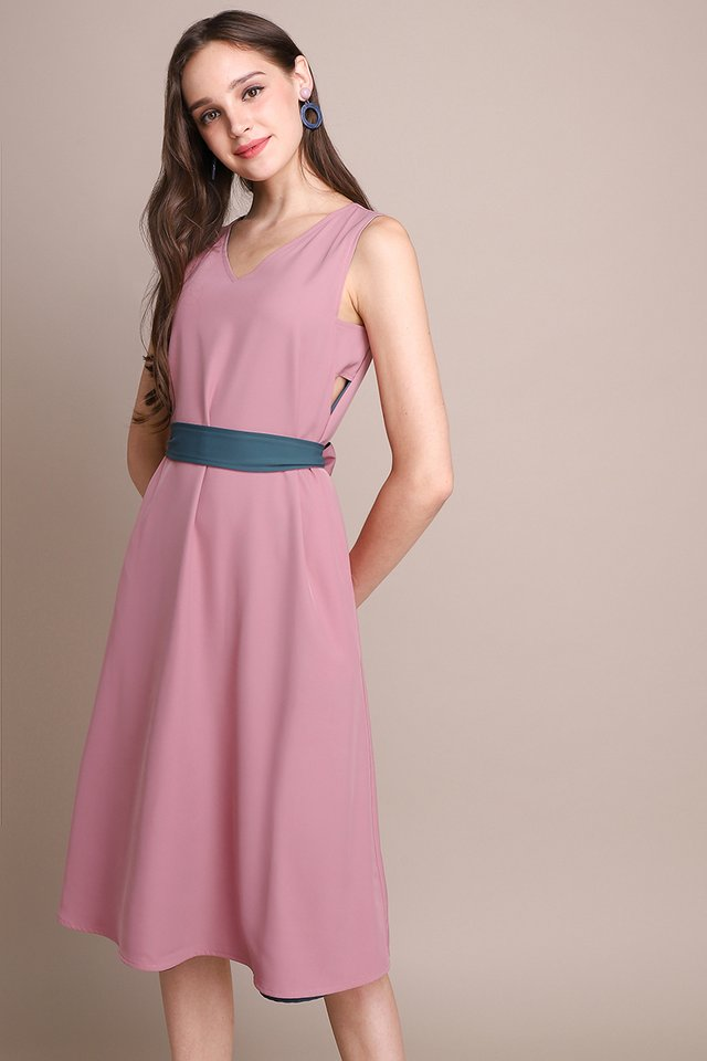 Blissfully Yours Dress In Pink Marine